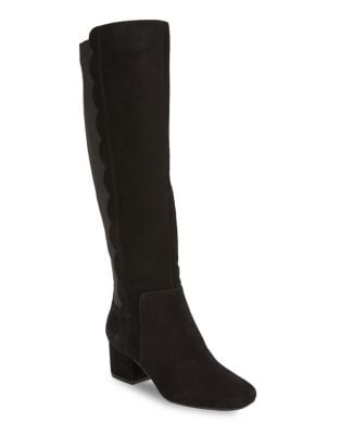 Florie Suede Knee-High Boots by Bandolino