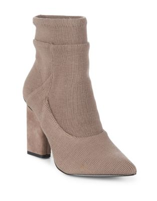 Ribbed Sock Booties by H Halston