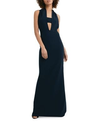 Squareneck Floor-Length Dress by AQ/AQ