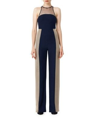 Mesh Colorblock Jumpsuit by AQ/AQ