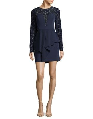 Kerrianne Lace Peplum Dress by BCBGMAXAZRIA