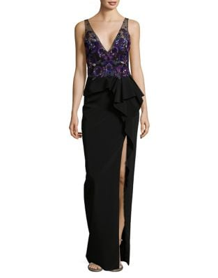 Sleeveless Beaded Dress by Marchesa Notte