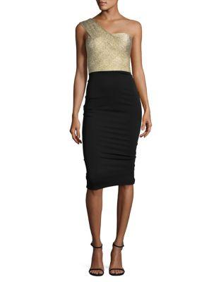 One-Shoulder Sheath Dress by Nicole Bakti