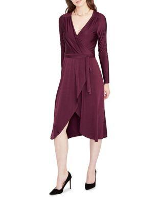 Long-Sleeve Wrap Dress by RACHEL Rachel Roy
