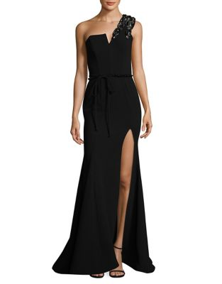 One-Shoulder Evening Gown by Nicole Bakti