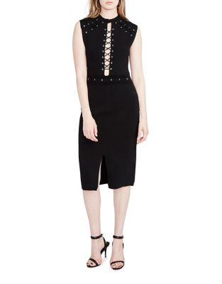 Lace-Up Sheath Dress by RACHEL Rachel Roy