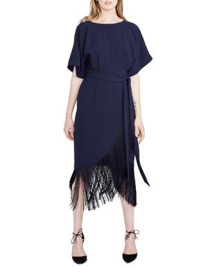 Fringe Hem Midi Dress by RACHEL Rachel Roy