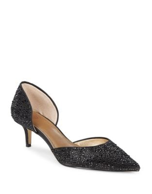 Yalissa Studded D'Orsay Pumps by Belle Badgley Mischka