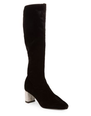 Imperial Velvet Mid-Calf Boots by Caparros