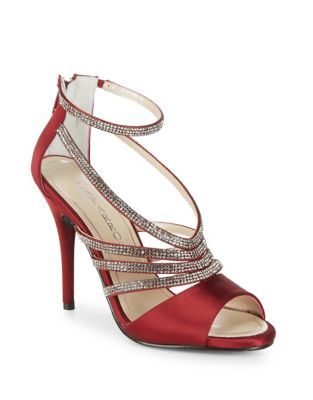 Judith Satin Stiletto Sandals by Caparros