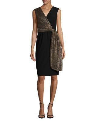 Wrap Sheath Dress by Tahari Arthur S. Levine