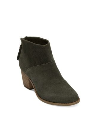 Leila Suede Booties by TOMS