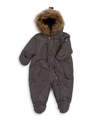 Baby Boy's Faux Fur Trim...