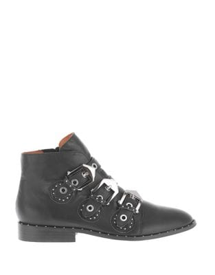 Maxwell Leather Booties by Sol Sana