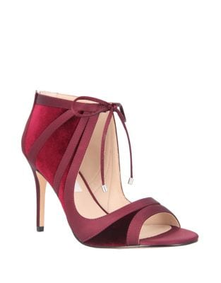 Velvet Ankle Strap Heel by Nina