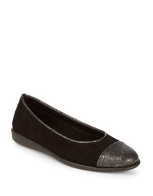 Rise Smile Suede Flats by The Flexx