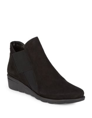 Jump Suede Booties by The Flexx