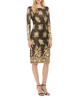 Long Sleeve Sheath Dress by Nicole Miller New York
