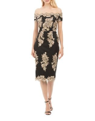Off-The-Shoulder Sheath Dress by Nicole Miller New York