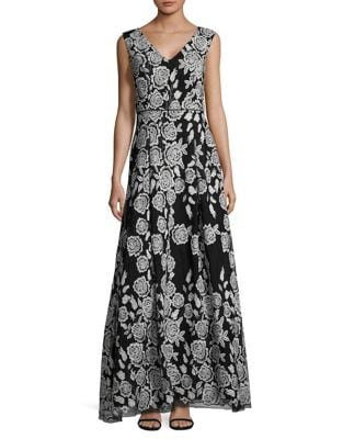 Rose Floor-Length Dress by Karl Lagerfeld Paris