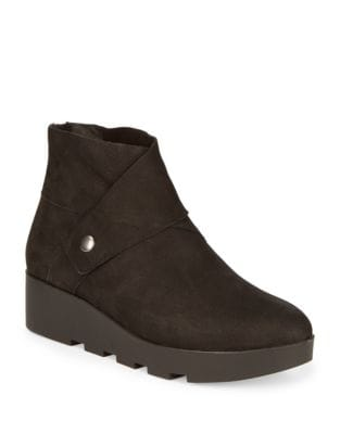 Zip Back Leather Booties by Eileen Fisher