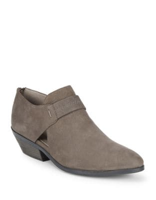Lisbon Almond Toe Suede Booties by Eileen Fisher