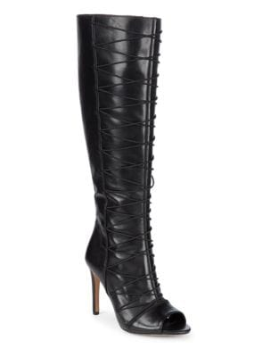 Kentra Leather Tall Boots by Vince Camuto