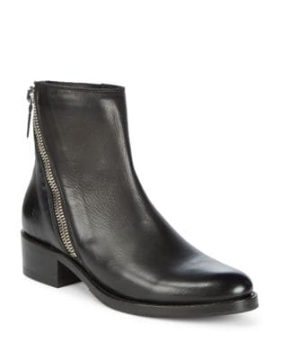 Demi Asymmetric Zip Leather Booties by Frye