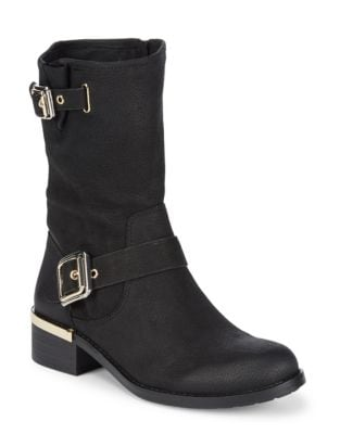 Windy Buckle Suede Boots by Vince Camuto