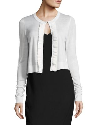Ruffled Cropped Cardigan by Tommy Hilfiger