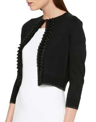 Ruffle Front Cardigan by Tommy Hilfiger