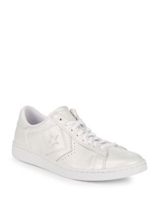 Metallic Leather Low Top Sneakers by Converse