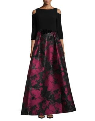 Floral Off-the-Shoulder Ball Gown by Theia