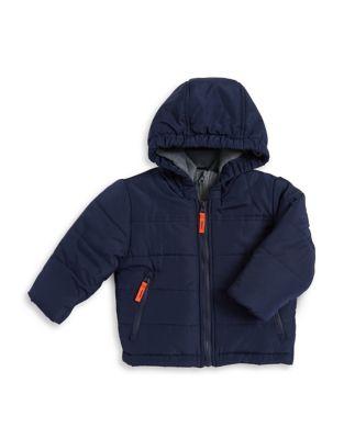 Baby Boys Full Zip Bubble Jacket