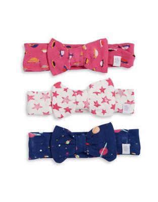 Baby Girl's Three-Pack Printed Cotton Headbands Set 500087564546