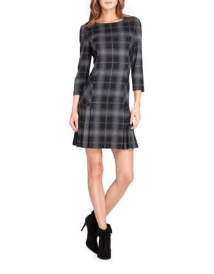 Plaid Shift Dress by Tahari Arthur S. Levine