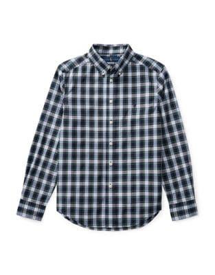 Boys Plaid Cotton ButtonDown Shirt