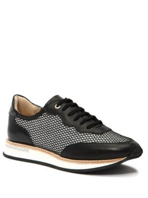 Buy Noreen Leather & Tweed Trainer Sneakers by Aquatalia online