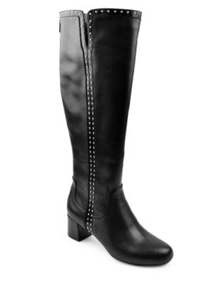 Larosa Knee-High Leather Boots by Adrienne Vittadini