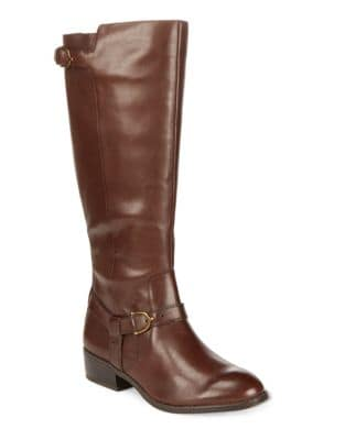 Margarite Wide Calf Leather Boots by Lauren Ralph Lauren