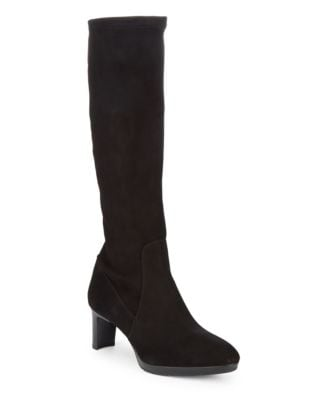 Dahlia Stretch-Suede Knee-High Boots by Aquatalia