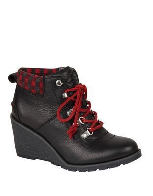 Celeste Bliss Leather Wedge Booties by Sperry