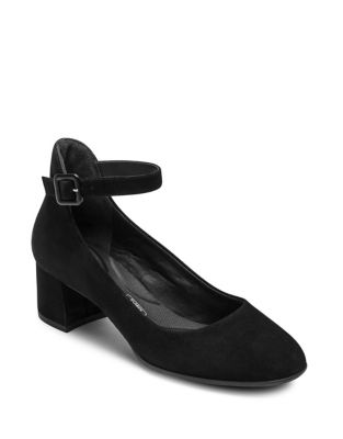 Total Motion Novalie Suede Ankle-Strap Pumps by Rockport