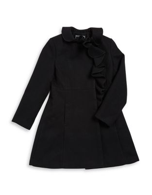 Girls Ruffled Long Sleeve Jacket