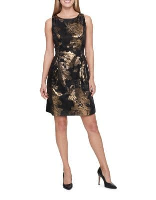 Floral Metallic Dress by Tommy Hilfiger