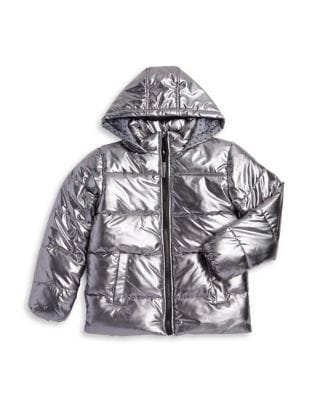 Girls ZipFront Puffer Jacket