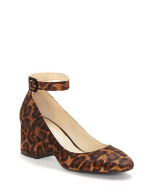 Calf Hair Ankle Strap Pumps by Jessica Simpson