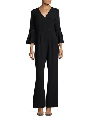 Bell-Sleeve Eyelet Jumpsuit by Eliza J