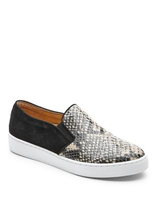 Mini Snake Print Leather Sneakers by Vionic