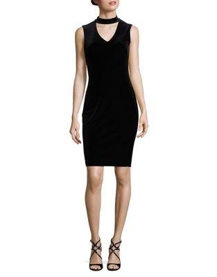 Choker Velvet Dress by Calvin Klein